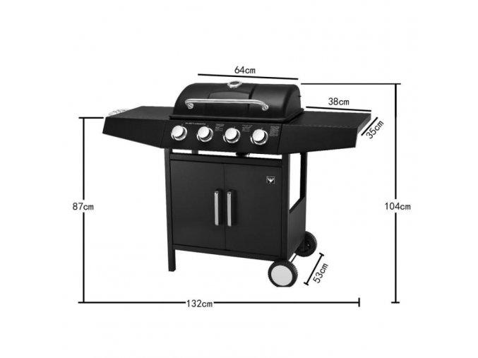 Plynová BBQ gril El Toro® Laredo