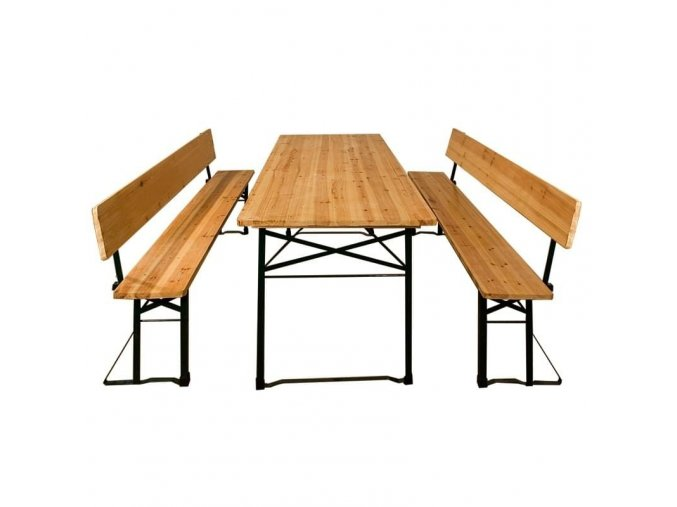 Pivní set - lavice s opěradlem + stůl