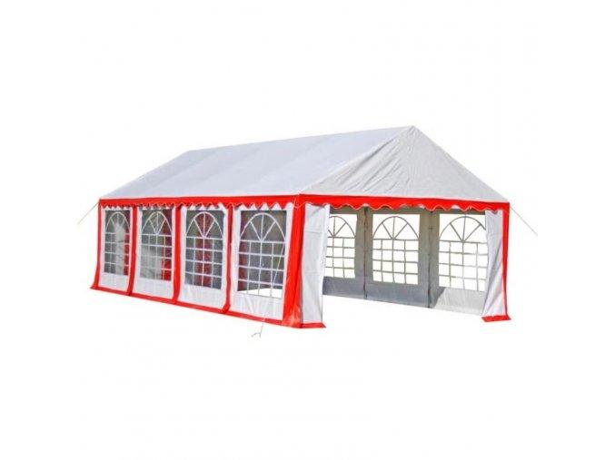 Velký party stan 8 x 4 m červený