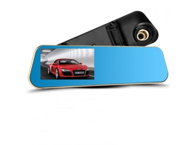 Zpětné zrcátko s přední kamerou - nahrávání jízdy