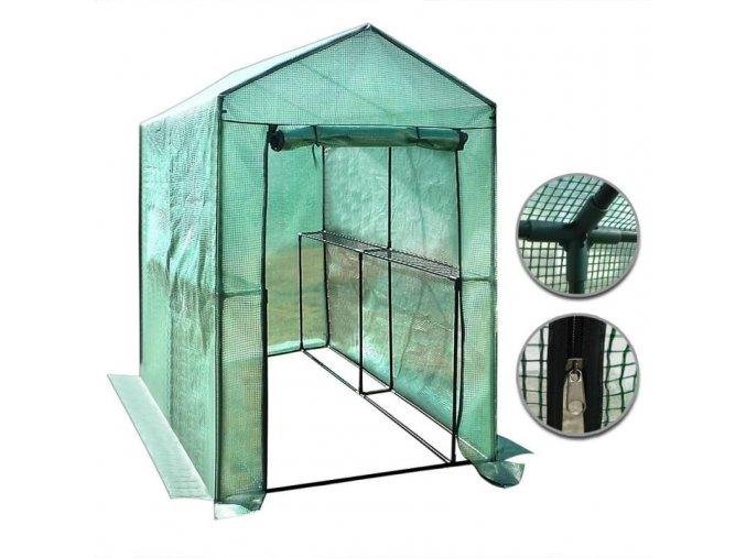 Plastový skleník 186 x 120 x 190 cm