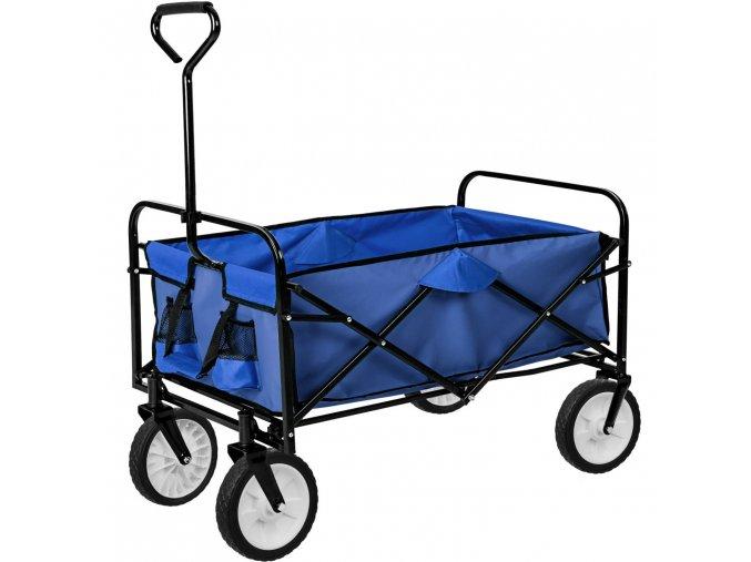 Skládací transportní vozík modrý