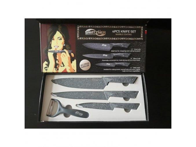 Sada profi nožů - 3x nůž + škrabka