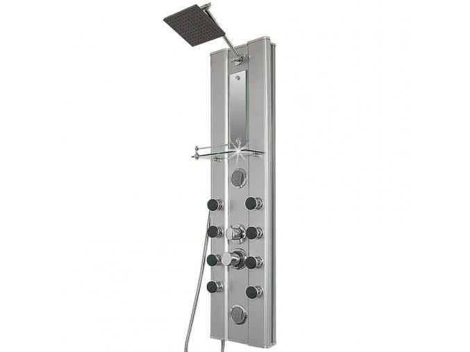 Alu sprchový panel 10 masážních trysek