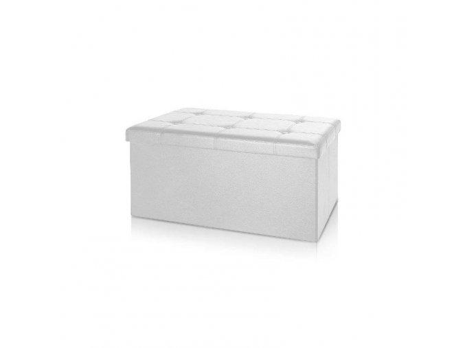 Pohovka s úložným prostorem - bílá 80x40x40cm