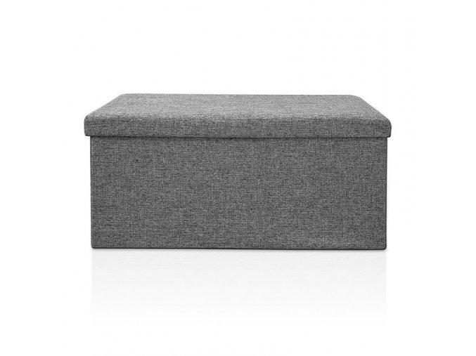 Pohovka s úložným prostorem - šedá 80x40x40cm