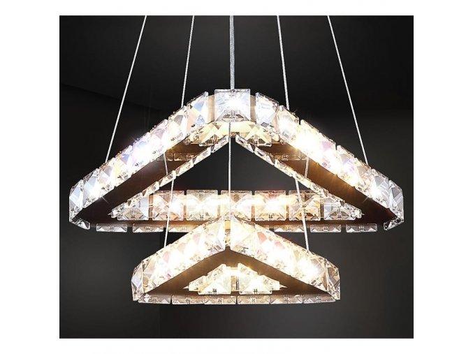 Závěsný křišťálový lustr s podsvícením Orseo Bella