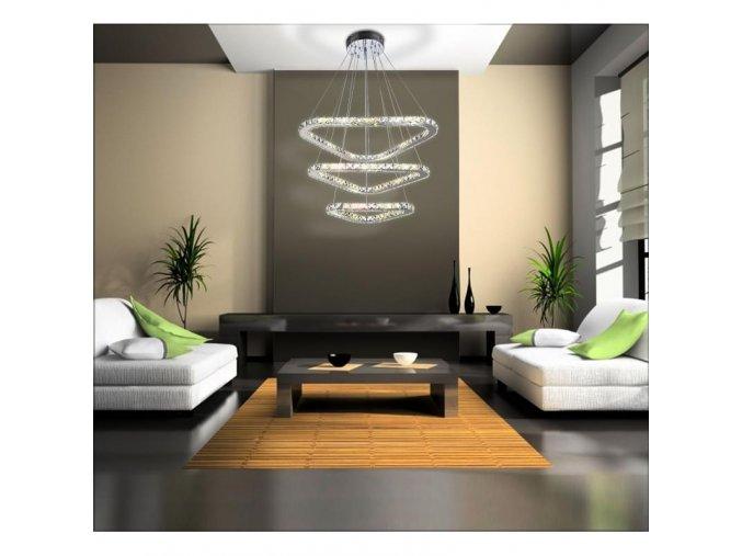 Designový závěsný LED lustr Orseo Samira