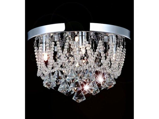 Křišťálový stropní lustr Orseo Naida-S O 35cm