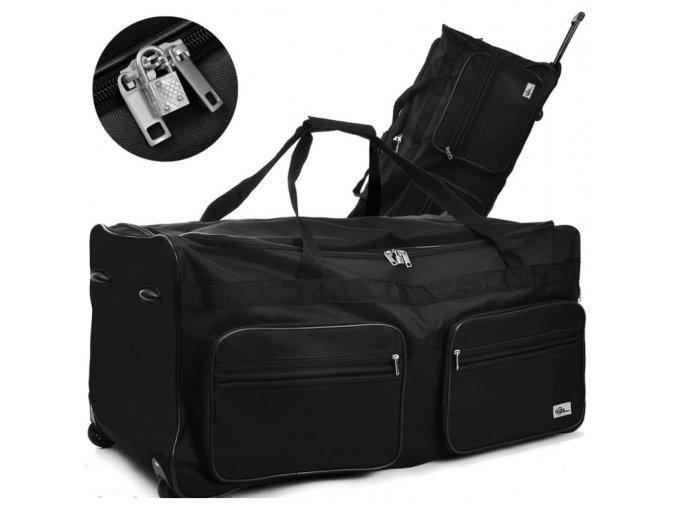 Cestovní taška na kolečkách XXL černá