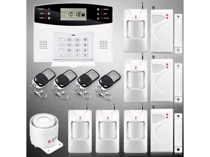 Bezdrátový bezpečnostní systém s vysílačem GSM alarm