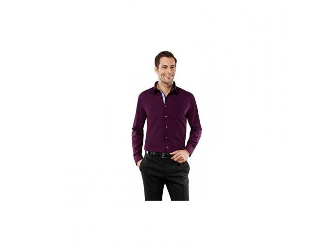Luxusní pánská vínová košile Vincenzo Boretti