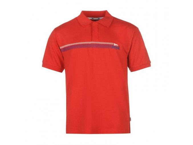 Lonsdale 2 Stripe pánské sportovní Polo oranžová