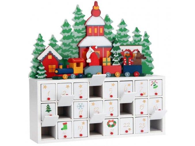 Adventní kalendář Vánoční krajina