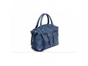 Dámská kabelka se zipem modrá