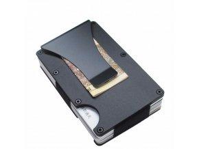Kovová slim peněženka se sponou