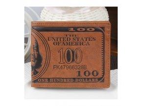 Luxusní pánská kožená peněženka 100 dolars