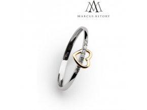 Prsten Marcus Astory MA61 ze 14K bílého zlata s diamanty