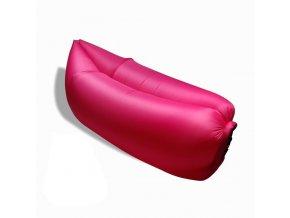 Vzdušný vak lehátko pohovka Bullibag - růžový airb_004