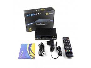 TV box s přijímačem satelitního signálu DVB-S/S2