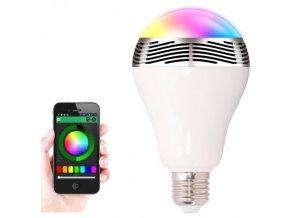LED žárovka s bezdrátovým reproduktorem
