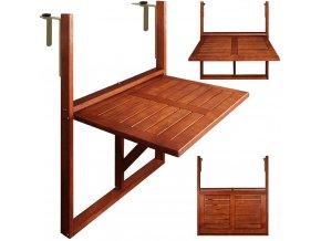 Skládací stolek na balkon - dřevěný