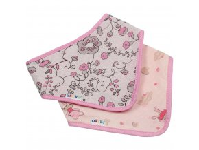 Dětský bryndáček-šátek Akuku 2 ks květinka-medvídek