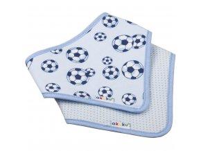 Dětský bryndáček-šátek Akuku 2 ks míč-puntíky