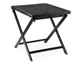 Skladácí stolička z polyratanu černá
