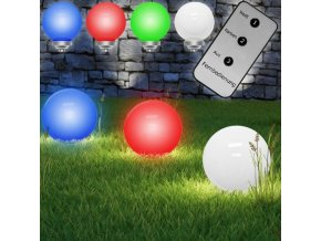 Zahradní solární LED zapichovací kulaté svítidlo