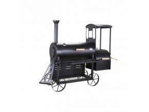 """BBQ gril s udírnou lokomotiva - """"Smoke Express"""""""