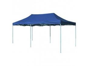 Nůžkový party stan 3x6 m modrý