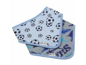 Dětský bryndáček-šátek Akuku 2 ks míč-žralok