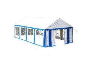 Velký party stan 8 x 4 m modrý