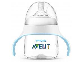 Kojenecká láhev a hrníček 2v1 Avent Natural transparentní 150 ml
