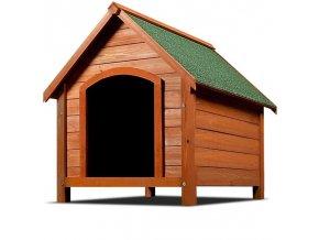 Psí bouda se špičatou střechou