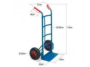 Univerzální ruční vozík - transportní rudl, velká lopata