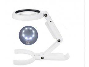 11x zvětšovací stolní lampa 8 LED lupa