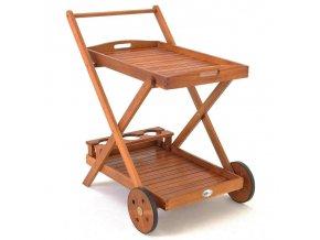 Dřevěný servírovací vozík