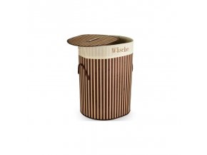 Bambusový koš na prádlo 100 L hnědý mix