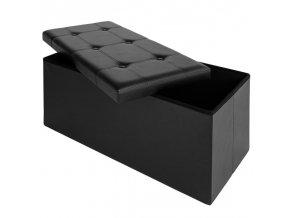 Pohovka s úložným prostorem - černá 80x40x40cm