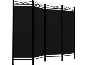 Paravan v černé barvě 180 * 163 cm