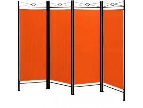 Paravan v oranžové barvě 180 * 163 cm