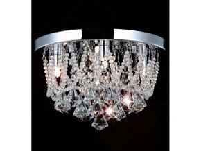 Křišťálový stropní lustr Orseo Naida-S Ø 35cm