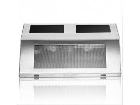 LED Solární nástěnné svítidlo z nerezové oceli