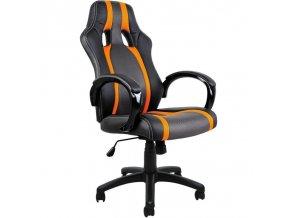 Ergonomické kancelářské křeslo černo-oranžové