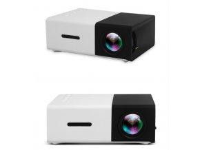 YG300 přenosný LED mini projektor černá