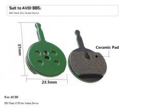 Keramické brzdové destičky BB5 na kolo