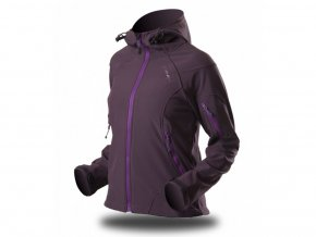 189 damska softshellova bunda trimm brenda purple dark purple fialova