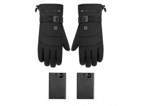 Zimní vyhřívané rukavice pro lyžaře